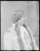 view Side view of Anasito, Taos Pueblo Indian Chief. U. S. Indian School 1904 digital asset number 1