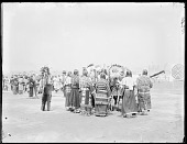 view Group of Dakota Indians in costume on the grounds of the World's Fair, U. S. Indian School, St Louis, Missouri 1904 digital asset number 1