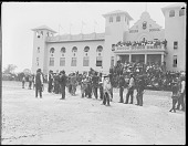view Group of Indians in front of St. Louis Indian School. World's Fair 1904 digital asset number 1