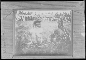 view Group of Blackfoot Indians. Sun Dance. Yellow Kidney seated on left 1899 digital asset number 1