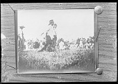 view Group of Blackfoot. Sun Dance. Fred Big Top at left 1899 digital asset number 1