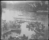 view Canoe race, Salish Indians, British Columbia digital asset number 1