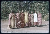 view 'Rainbow' of Hutu (African people) and Tutsi ladies, circa 1957 digital asset number 1