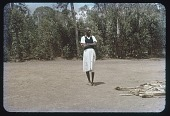 view Visitor at Gite, all dressed up - (Male), circa 1956 digital asset number 1
