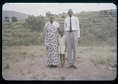 view Harimenshi, wife, and son (Umwezi, ie, royal family), circa 1957 digital asset number 1