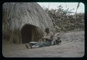 view Basket-making and baby-sitting, circa 1956 digital asset number 1