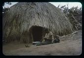 view Basket-making while baby-sitting, circa 1956 digital asset number 1