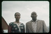 view King and Queen of Urundi [Mwambutsa and wife] close up, circa 1957 digital asset number 1