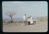 view Sector Chief Bodart, EMA, and the chicken house, circa 1956 digital asset number 1