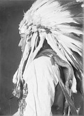 view Portrait (Profile) of Dauyet or Scum, Called Circle Left Hand Or Road Traveler, Son of Nawat, in Partial Native Dress with Headdress JAN 1908 digital asset number 1