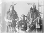 view [Group Portrait of Black Crow, Nawat, and Scabby Bull] 1898 digital asset number 1