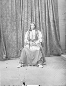 view Portrait (Front) of Man, Son of Chief Ouray?, in Partial Native Dress with Breastplate 1873 digital asset number 1