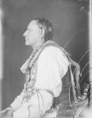 view Portrait (Profile) of Hachi-Viho (Little Chief), Formerly Called White Spoon, in Partial Native Dress with Ornaments JAN 1908 digital asset number 1