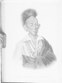 view [Painting of Ma'katawimesheka'kaa or Black Hawk, a subordinate chief] digital asset number 1
