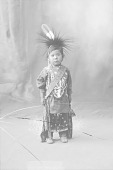 view Portrait (Front) of Boy in Native Dress with Headdress and Ornaments 1898 digital asset number 1