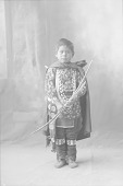 view Portrait (Front) of Child in Partial Native Dress with Ornaments and Holding Bow and Arrow 1898 digital asset number 1