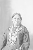 view Portrait (Front) of Woman in Partial Native Dress with Peace Medal and Ornaments 1898 digital asset number 1