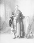 view Portrait (Front) of Woman in Native Dress with Madison Peace Medal and Ornaments 1898 digital asset number 1