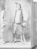 view Portrait (Front) of Chief Wah-Pe-Cat-Qua in Partial Native Dress with Ornaments n.d digital asset number 1