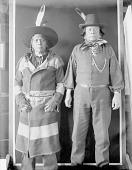 view Portrait of Antoine Muiz (Flathead) and Pehkotah, Both in Partial Native Dress with Ornaments FEB 1907 digital asset number 1