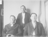 view Group Portrait of Three Men, George Wa-Wa-Suck, Jack Masquette and William Whitewater SEP 1906 digital asset number 1