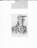 view Photograph of a Benson John Lossing engraving of Tecumseh, based partially on a sketch by Pierre Le Dru 1812, of Tecumtha or Tecumseh with Peace Medal, undated digital asset number 1