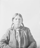 view Portrait (Front) of Nass-A-Wata, Called David Pool, Interpreter, in Partial Native Dress MAR 1898 digital asset number 1