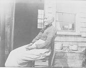 view Woman Near Wood Building 1910 digital asset number 1