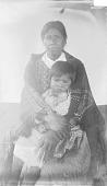 view Kweti, James Hornbuckle's Wife, Holding Child on Lap Child 1888 digital asset number 1