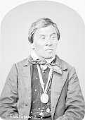 view Portrait (Front) of Ash-Ke-He-Na-Niew (Man) with Peace Medal 1877 digital asset number 1