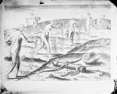view Engraving by de Bry After Drawings by Le Moyne of Ceremony of Women Mourning For Deceased Husbands n.d digital asset number 1
