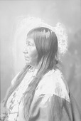 view Portrait (Profile) of Winnie Richards, Wife of Sentele or Grant Richards, in Partial Native Dress with Ornaments 1898 digital asset number 1