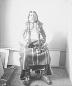 view Portrait (Front) of Ostin, Also Called Lamar Richards, in Partial Native Dress APR 1898 digital asset number 1