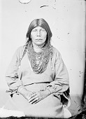 view Portrait (Front) of Woman in Partial Native Dress with Ornaments 1868 digital asset number 1
