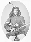 view Portrait (Front) of Loots-Tow-Oots (Rattlesnake) or George Esaw, in Partial Civil War Uniform and Holding Sword 1868 digital asset number 1
