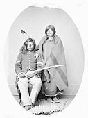 view Portrait of Loots-Tow-Oots (Rattlesnake) or George Esaw, with His Wife, Both in Partial Native Dress, One in Partial Civil War Uniform 1868 digital asset number 1