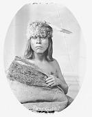 view Portrait (Front) of Caw-Caw-Kitti-Busk (Little Raven) in Buffalo Robe 1868 digital asset number 1