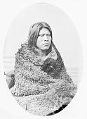 view Portrait (Profile) of Caw-Caw-Kitti-Busk (Little Raven) in Buffalo Robe 1868 digital asset number 1