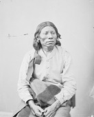 view Portrait (Front) of Knee-War-War in Partial Native Dress with Ornaments 1872 digital asset number 1
