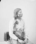 view Portrait (Profile) of Knee-War-War in Partial Native Dress with Ornaments 1872 digital asset number 1