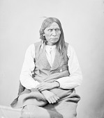 view Portrait (Front) of Long Soldier in Partial Native Dress with Ornaments 1872 digital asset number 1