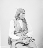 view Portrait (Profile) of Long Soldier in Partial Native Dress with Ornaments 1872 digital asset number 1