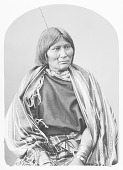 view Portrait (Front) of Wife of Guipago (Lone Wolf) in Partial Native Dress with Ornaments 1872 digital asset number 1