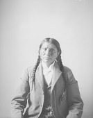 view Portrait (Front) of Apiatan (Wooden Lance) in Partial Native Dress with Ornaments MAR 1898 digital asset number 1
