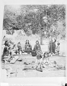 view Gaapiatan (Haitseke) Holding Lance with Family at Dinner? 1891 digital asset number 1
