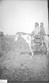 view Kiowa girls on horseback, Kiowa Reservation, Oklahoma 1892 digital asset number 1