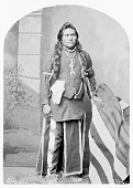 view Portrait (Front) of Shavano or Severo (Rainbow) or Ojo Blanco In Partial Native Dress with Ornaments 1878 digital asset number 1