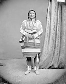 view Portrait (Front) of Tapuche in Native Dress with Ornament 1873 digital asset number 1