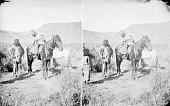 view Major John Wesley Powell (Non-native) On Horseback Talking with Man in Native Dress 1873 digital asset number 1