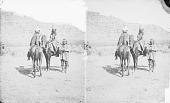 view Two Men in Native Dress with Headdresses On Horseback Near Man in Native Dress 1873 digital asset number 1